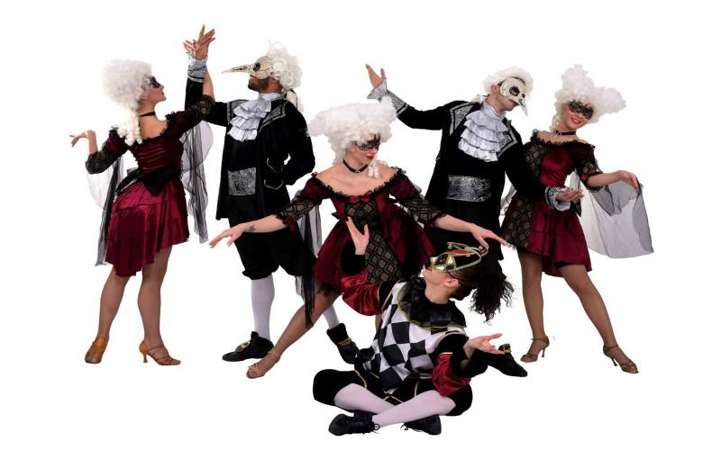 Masquerade show de dans carnaval venetian
